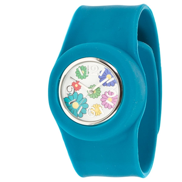 Wholesale large turquoise snap watch snaps wrist quick pop interchangeable flora