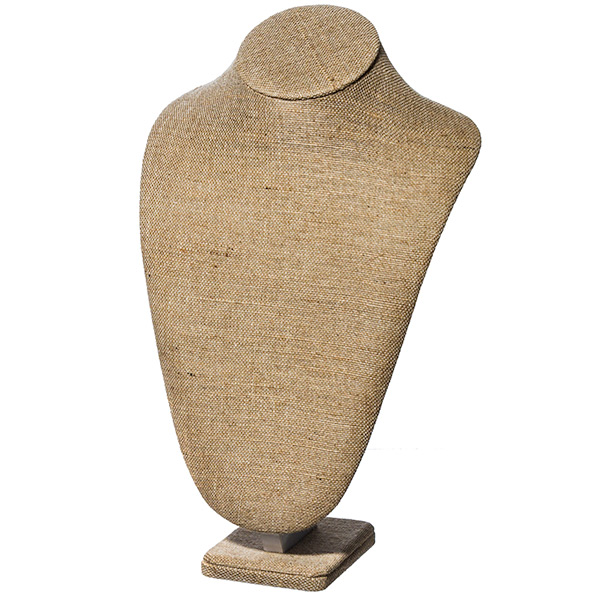 16 in linen necklace stand
