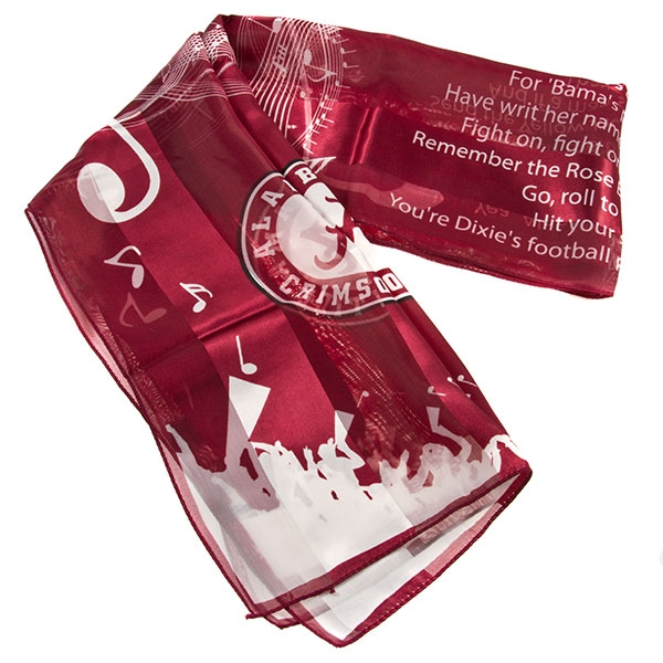 best service ec224 deeb8 Alabama Crimson Tide Scarves * Fight Song Scarves * Printed ...